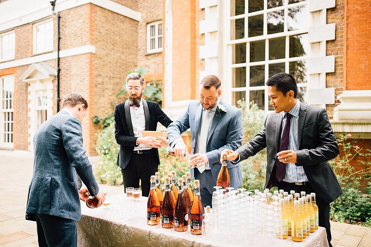 fun wedding photography wedding welcome drinks