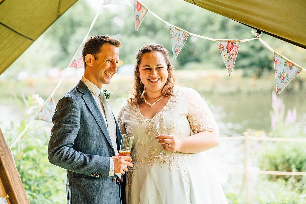 bride and groom at secret river garden wedding taken by Parrot & Pineapple Wedding Photography