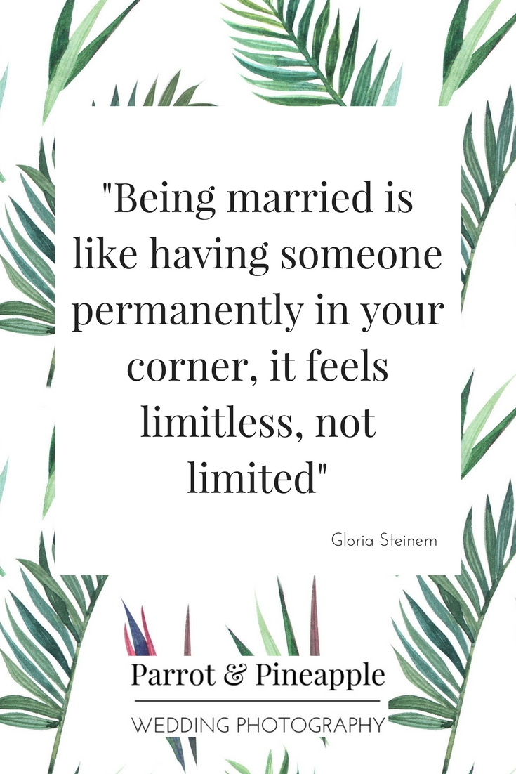 Feminist quote on marriage by Gloria Steinem