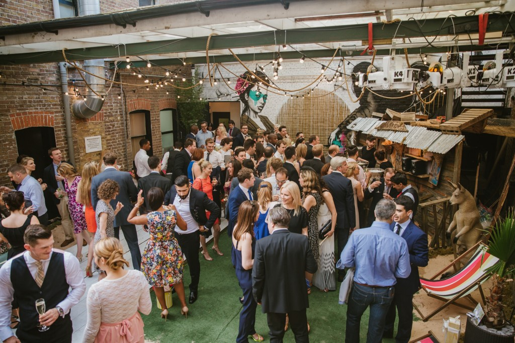 west london wedding venues loft studio courtyard exterior