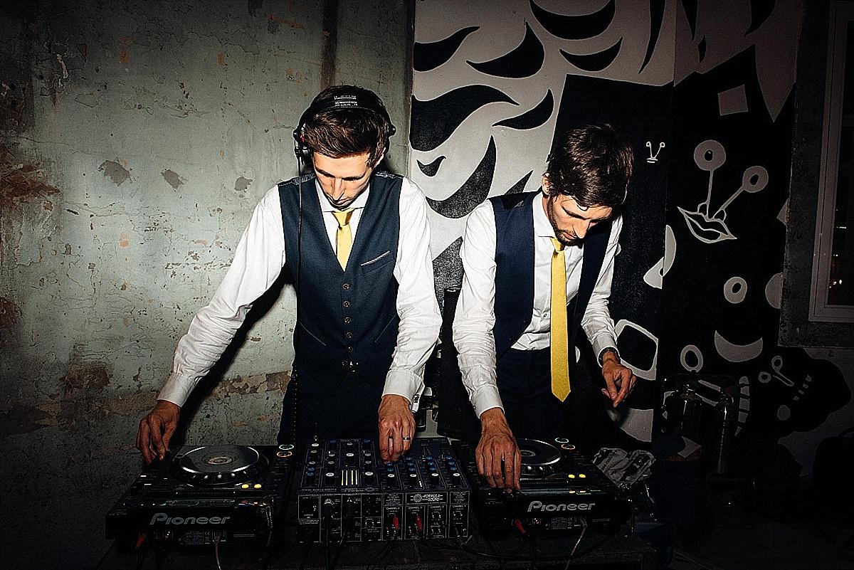fun wedding party dj brothers wedding party