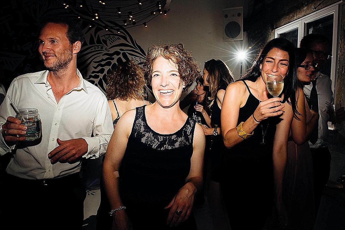 fun wedding party woman big smile laugh wedding party