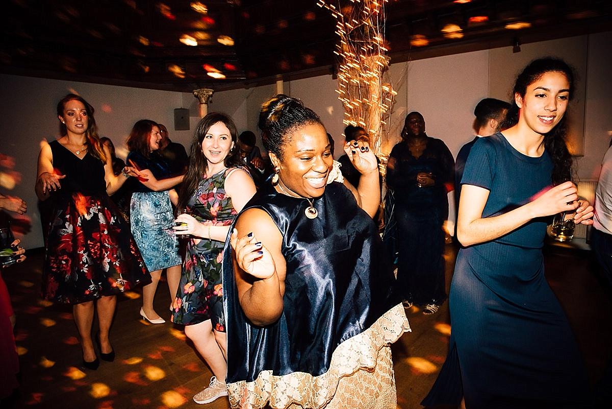 fun wedding party woman dancing wedding party