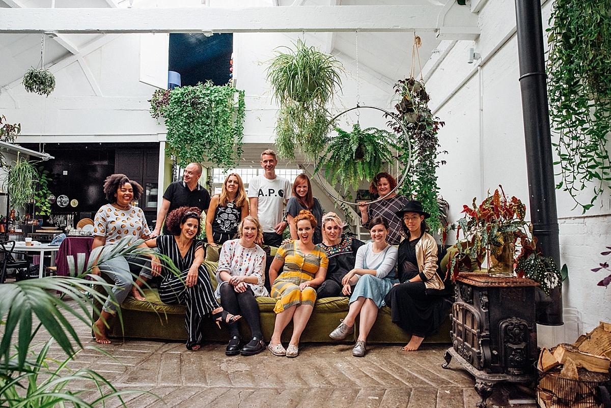 feminist wedding photographer group photo