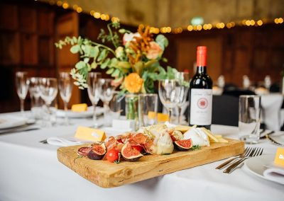 How to choose a wedding caterer - a platter of cured meat and figs at a wedding