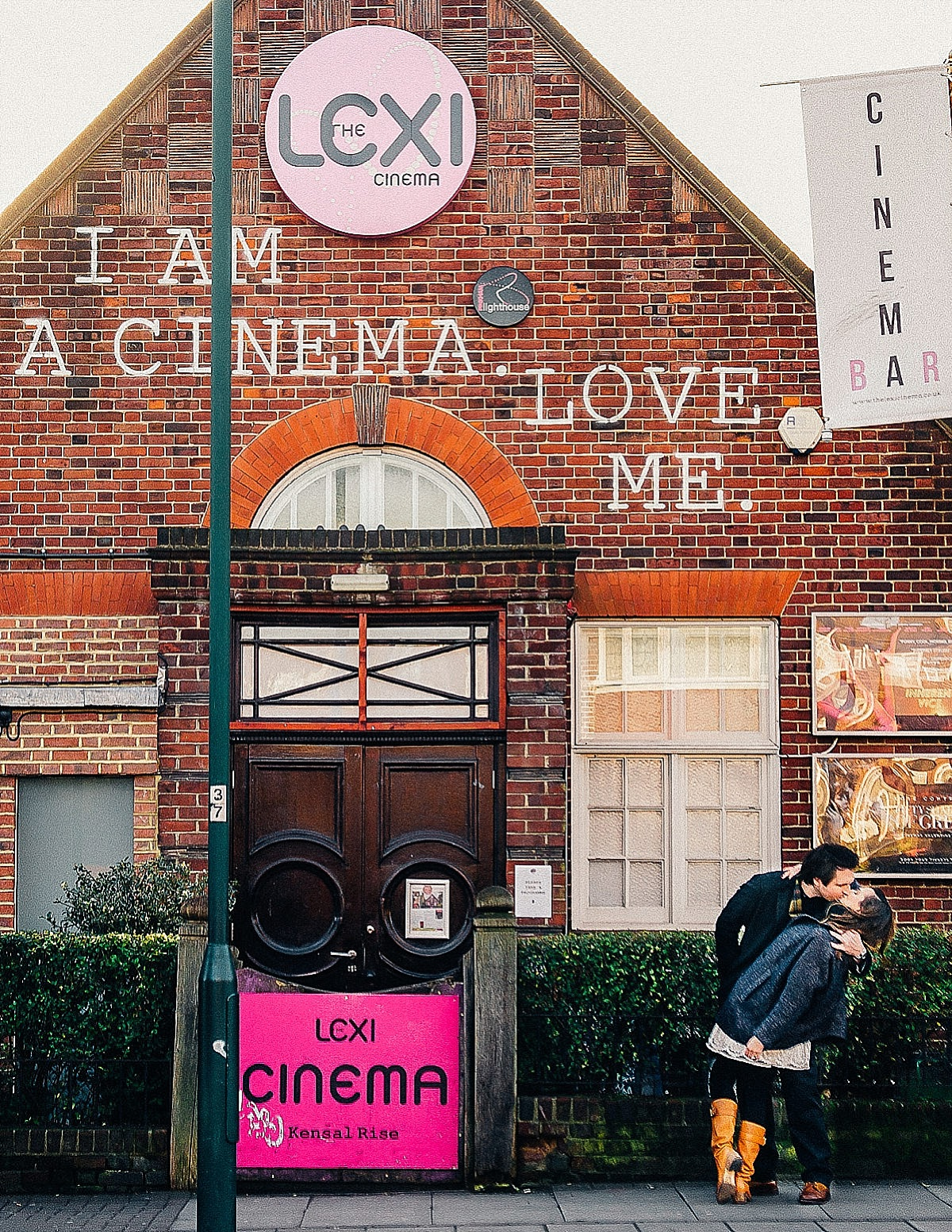 West London wedding venues The Lexi cinema couple embrace