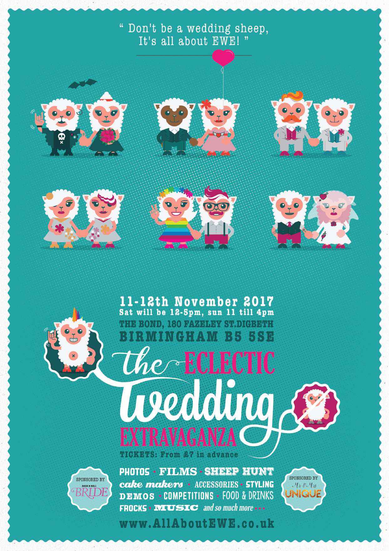 EWE Alternative wedding fair poster