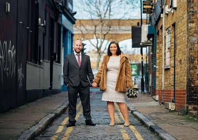 The-Happy-Couple-London-Elopement-Wedding-Parrot-and-Pineapple