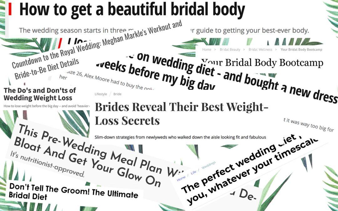 Feminist wedding photographer bridal diet advice headlines