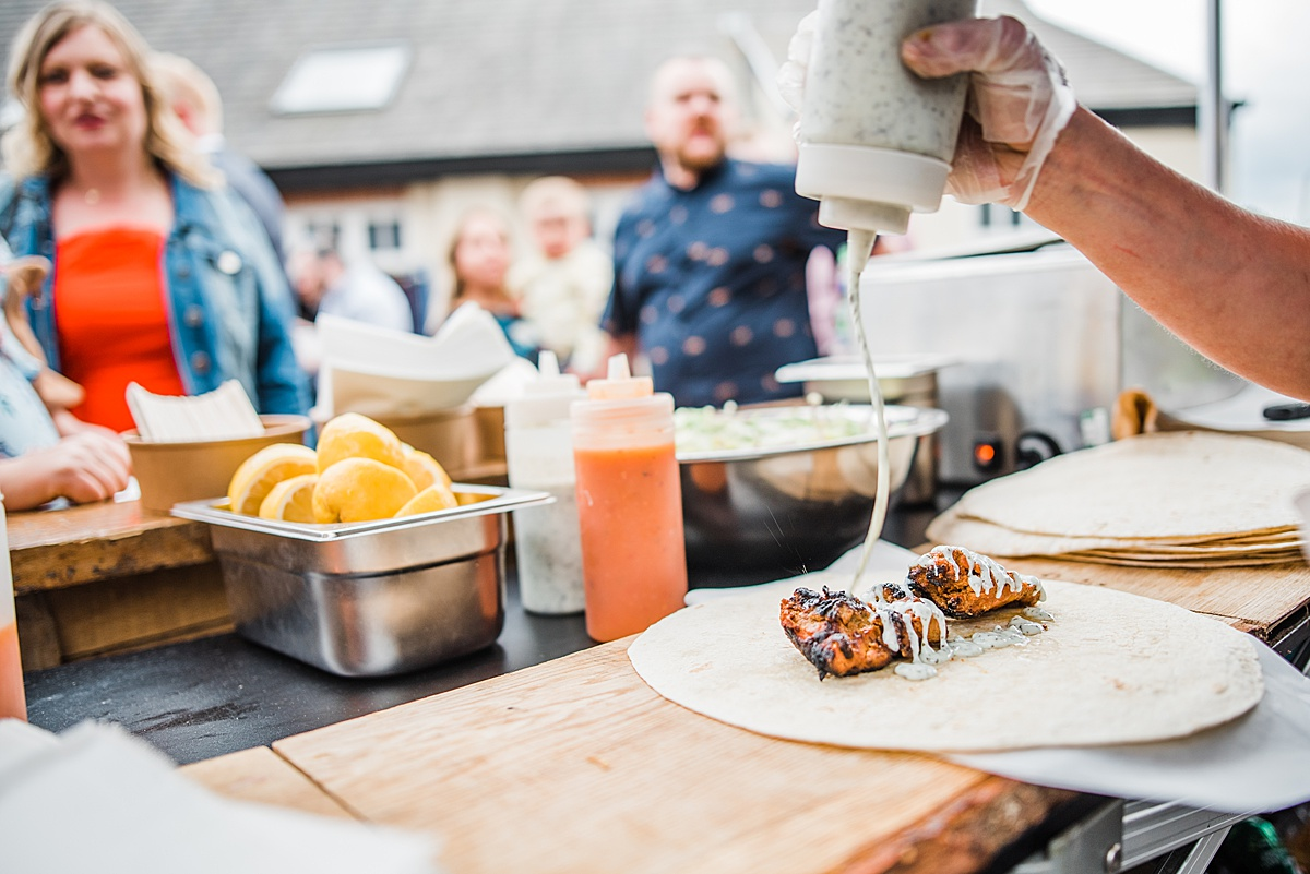 Chicken Tikka BBQ Wedding Breakfast - shot by Parrot & Pineapple Wedding Photography