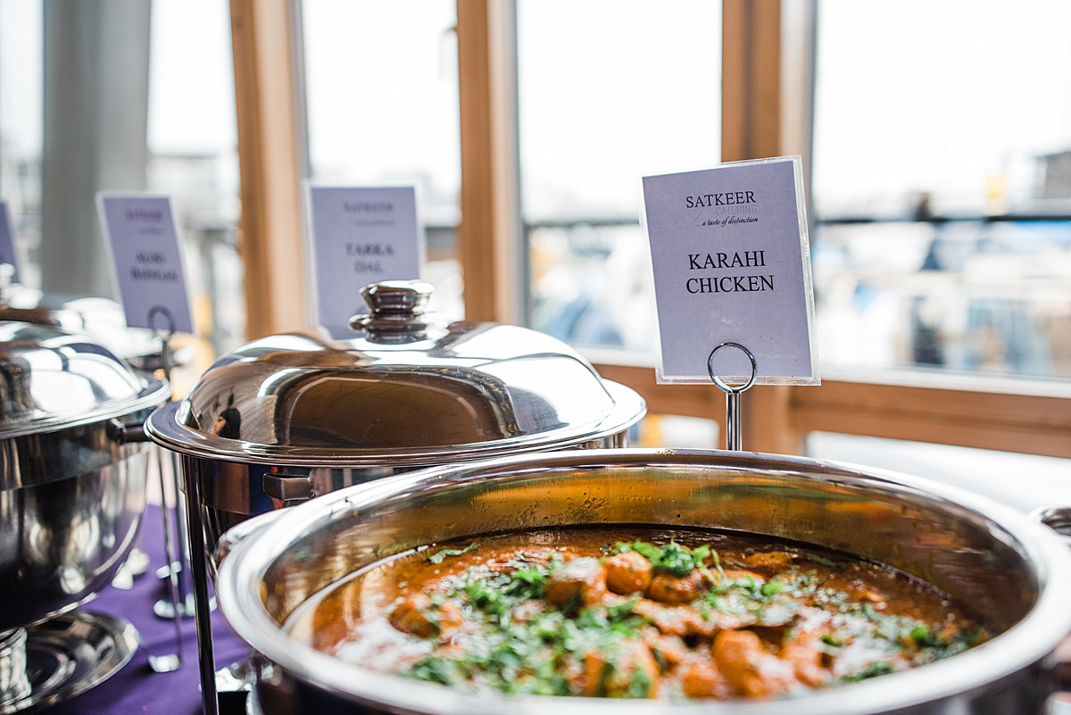 Chicken Curry Wedding Breakfast at Greenwich Yacht Club Wedding - shot by Parrot & Pineapple Wedding Photography