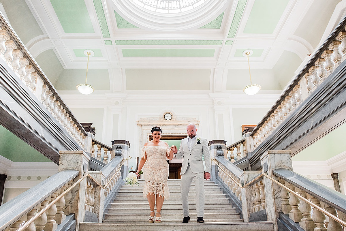 Inside Islington town hall wedding - Parrot and Pineapple photography