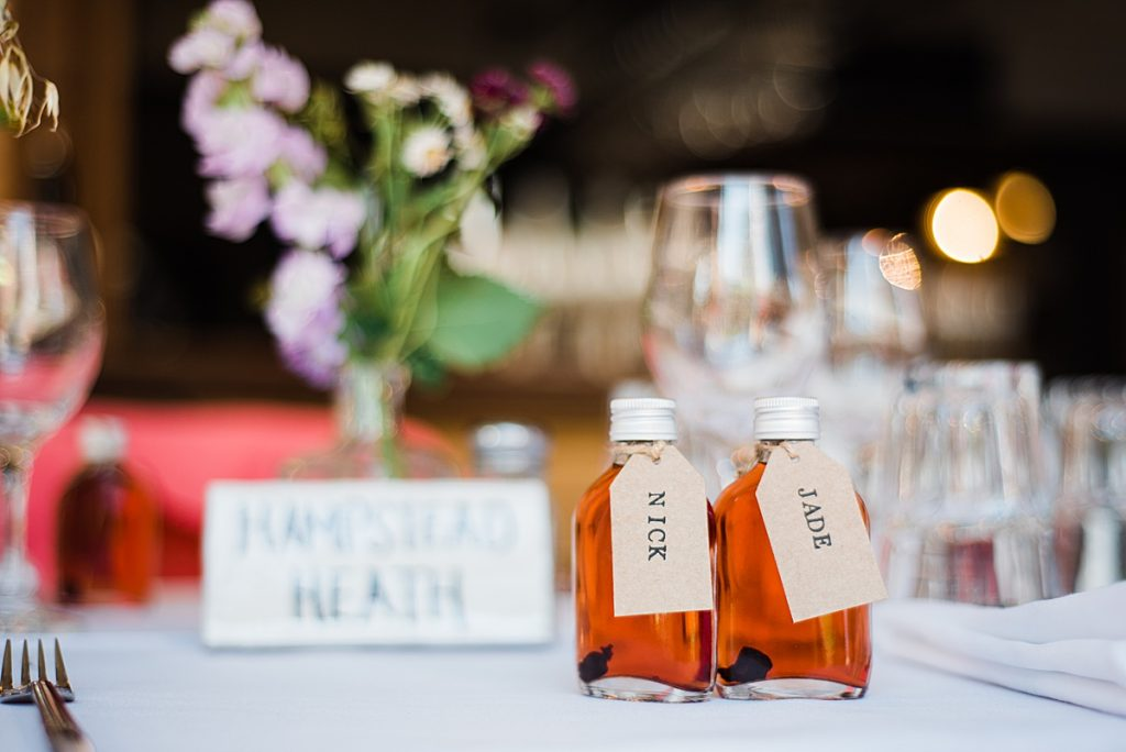 Mini Gin Bottle Wedding Favours