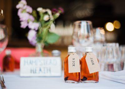 Mini Gin Bottle Wedding Favours