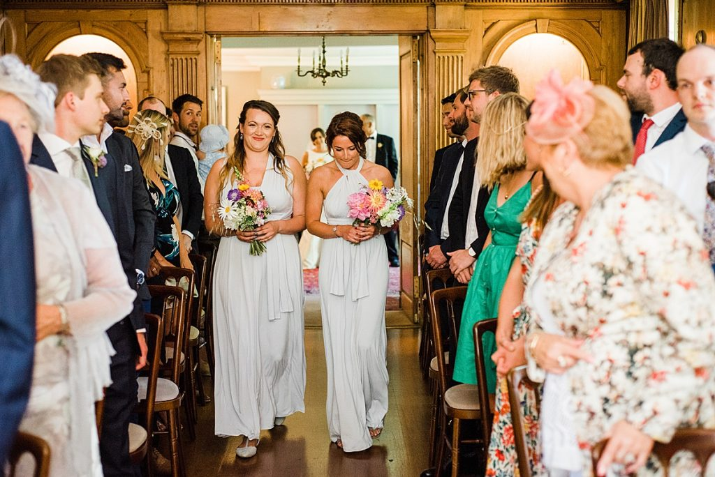 Bridesmaids at Burgh House wearing Marks and Spencers dresses