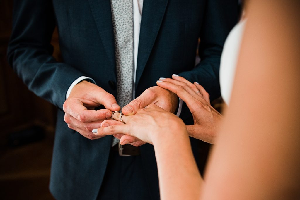 ring exchange at burgh house wedding