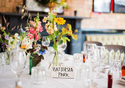 Table names for wedding decor at the Gipsy Queen pub