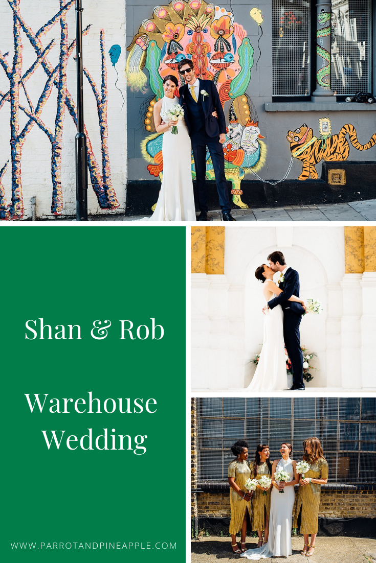 Shan and Rob's ultra cool Shoreditch warehouse wedding. Click through to see more photos and details of this East London industrial chic urban wedding.