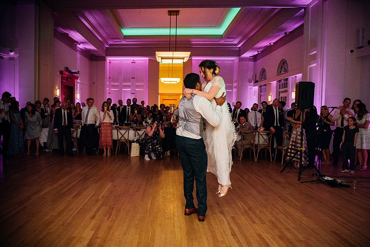 first wedding dance at hackney town hall wedding