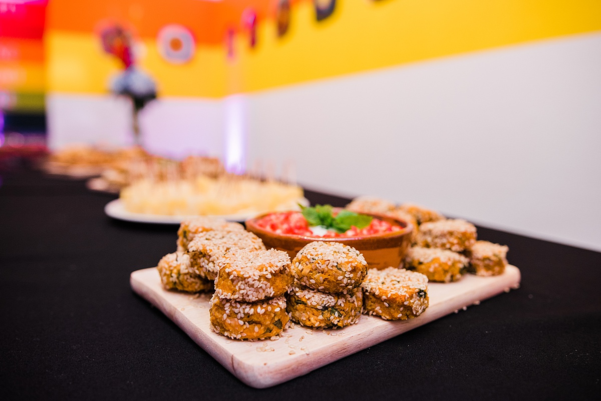 Delicious Canapes at Ikon Wedding in Birmingham - shot by Parrot and Pineapple Wedding Photography