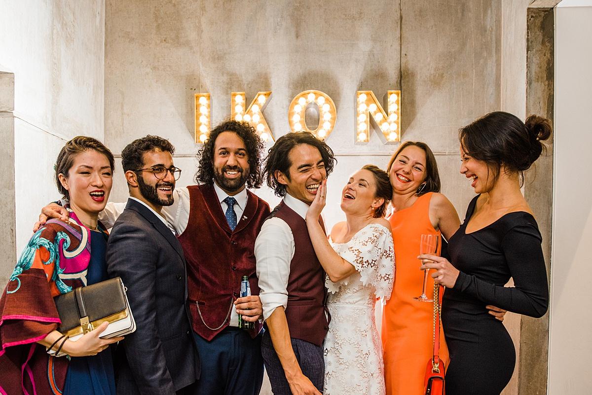 Ikon gallery wedding by Parrot & Pineapple Birmingham Wedding Photography