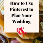Image of a stack of doughnuts at a wedding with a text overlay that reads how to use pinterest to plan your wedding