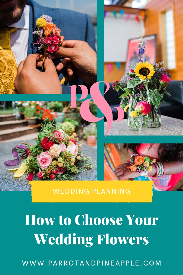 How to choose your wedding florist - advice from informal wedding photographer Parrot & Pineapple