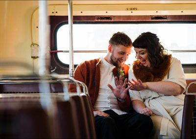 Bride-and-Groom-on-London-Bus-Parrot-and-Pineapple-Wedding-Photography