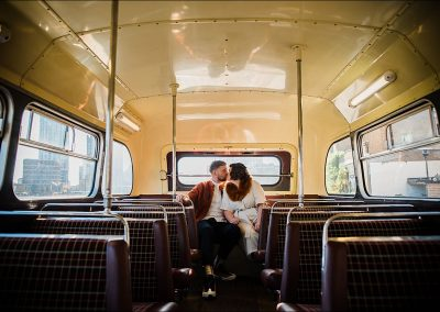 Wedding-Couple-Kiss-on-the-bus-Asylum-Wedding-Parrot-and-Pineapple-Wedding-Photography