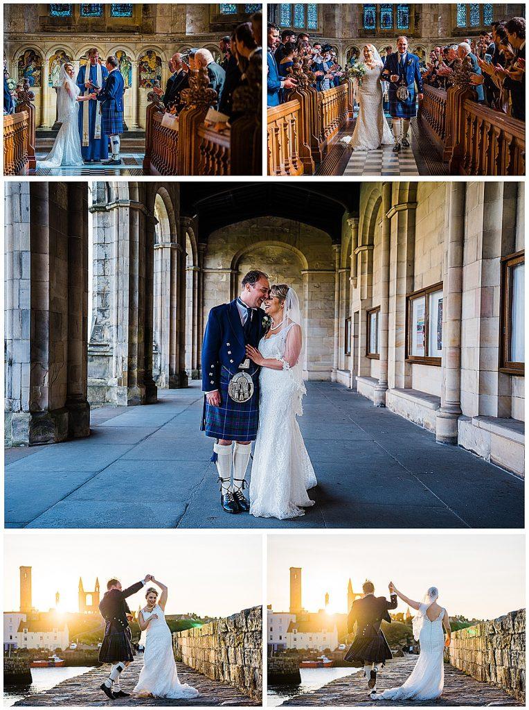 Wedding photo collage scottish wedding fit flare wedding dress davids bridal