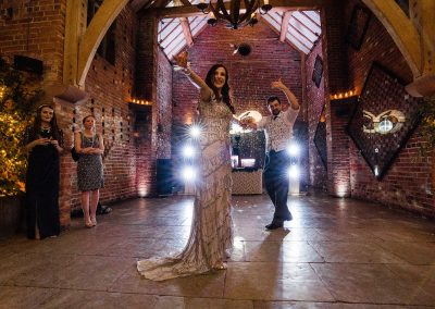 Bride and groom first dance Shustoke Barn wedding