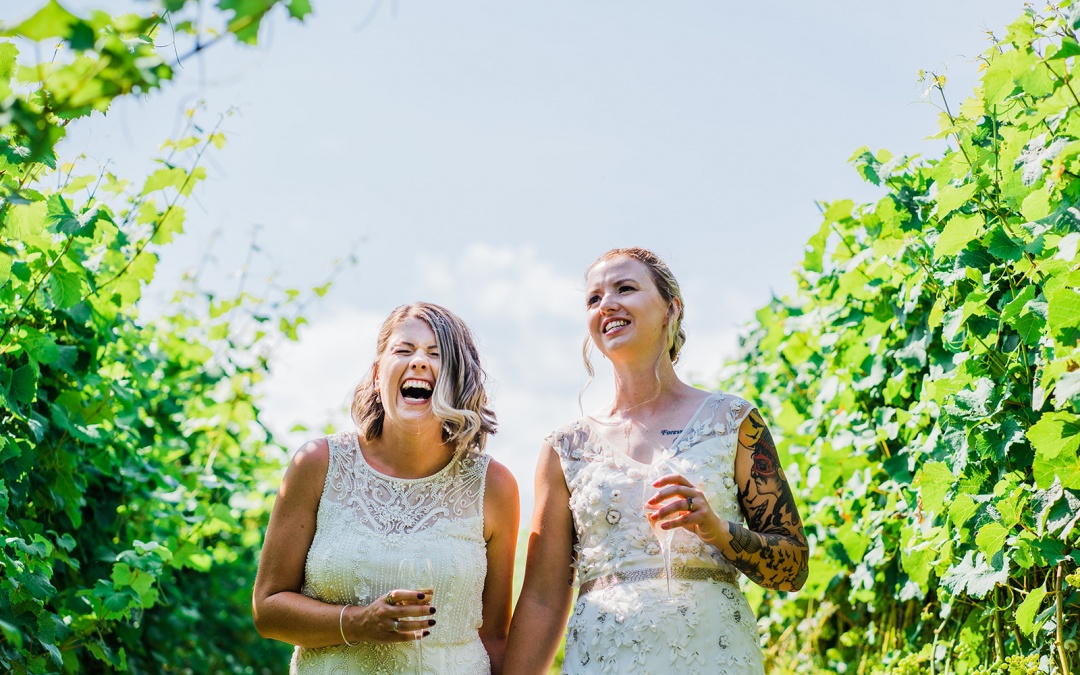 Cotswolds Elopement Photography in a Vineyard