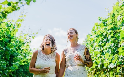 Cotswolds Elopement in a Vineyard | Covid Safe | Alice & Jess